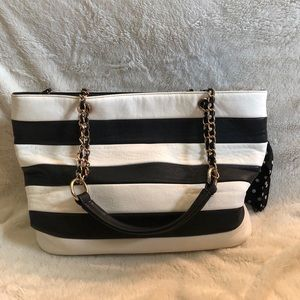 ALDO striped tote bag